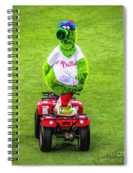 Phillie Phanatic Scooter Spiral Notebook