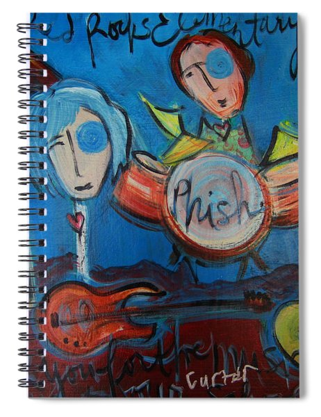Phish For Red Rocks Amphitheater Spiral Notebook