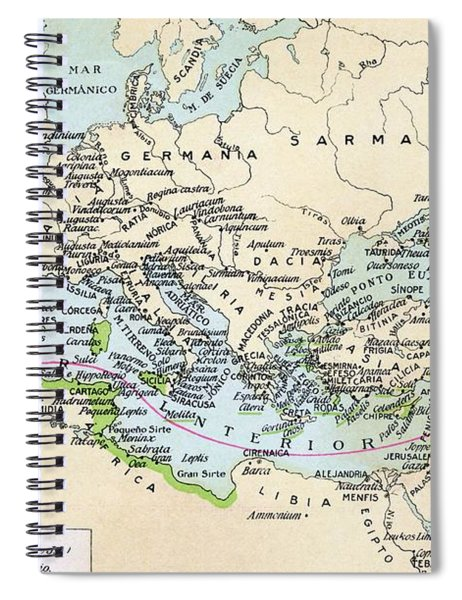 Phoenician Colonies And Area Of Spiral Notebook