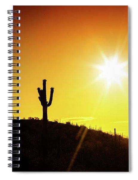 Phoenix Arizona Desert Sunset Silhouette Spiral Notebook