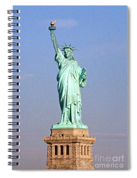 Photo Of The Statue Of Liberty Spiral Notebook