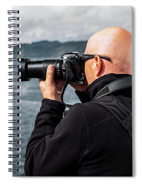 Photographer At Work Spiral Notebook