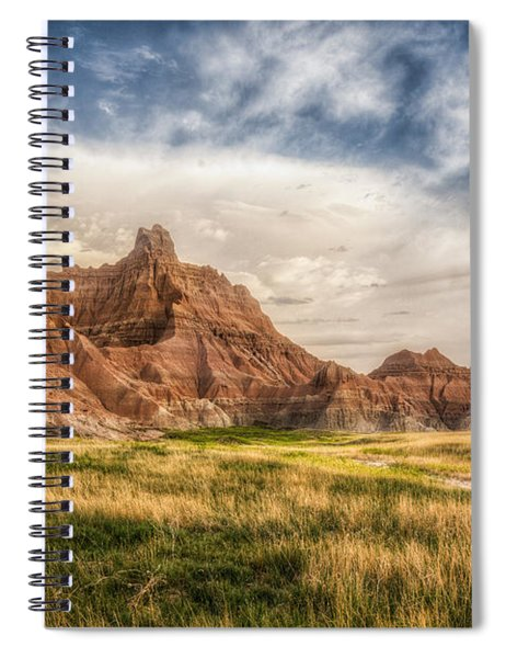Photographer Waiting For The Badlands Light Spiral Notebook