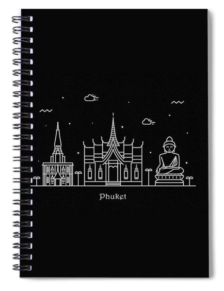 Phuket Skyline Travel Poster Spiral Notebook