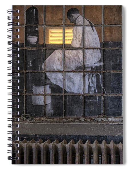 Physician In The Window Spiral Notebook