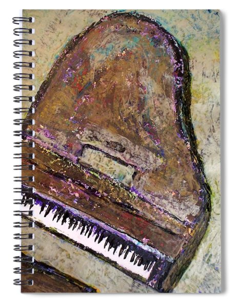 Piano In Bronze Spiral Notebook