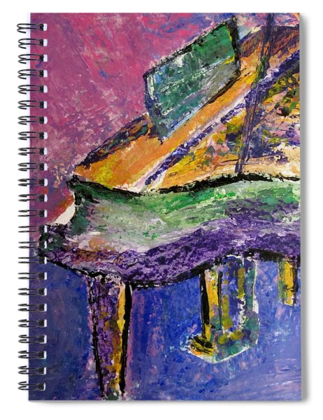Piano Purple - Cropped Spiral Notebook