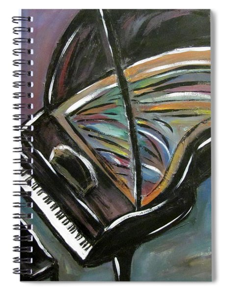 Piano With High Heel Spiral Notebook