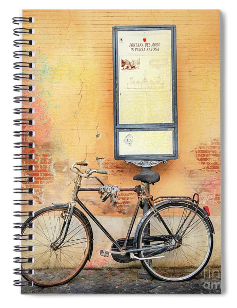 Piazza Navona Bicycle Spiral Notebook