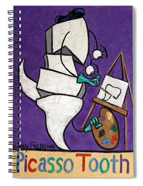 Picasso Tooth Spiral Notebook