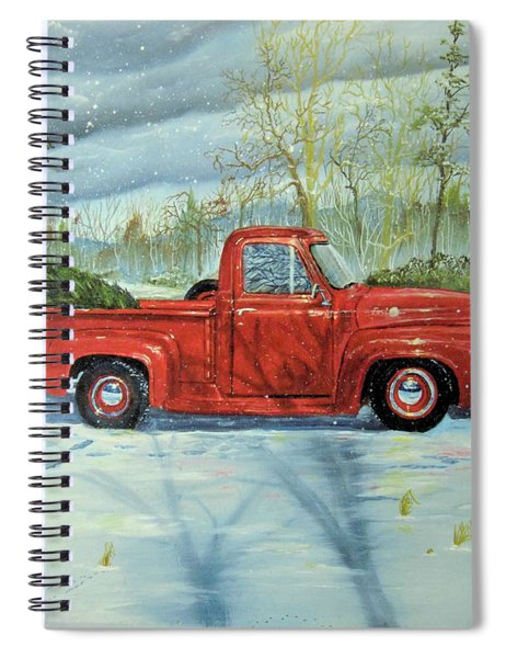 Picking Up The Christmas Tree Spiral Notebook