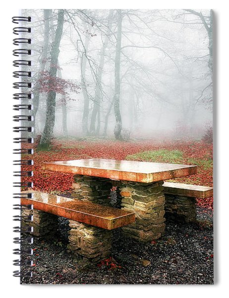 Picnic Of Fog Spiral Notebook