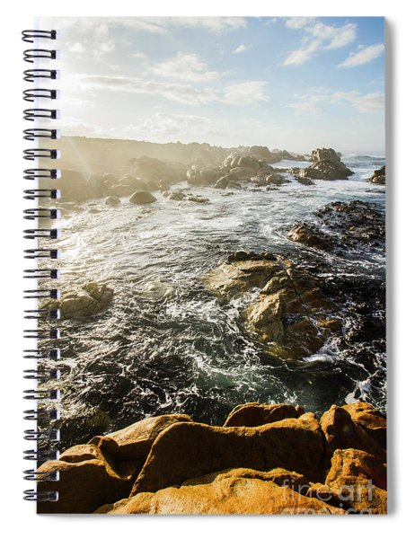 Picturesque Australian Beach Landscape Spiral Notebook