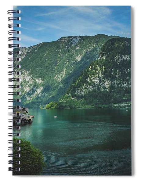 Picturesque Hallstatt Village Spiral Notebook