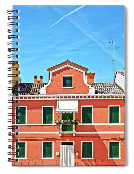 Picturesque House In Burano Spiral Notebook