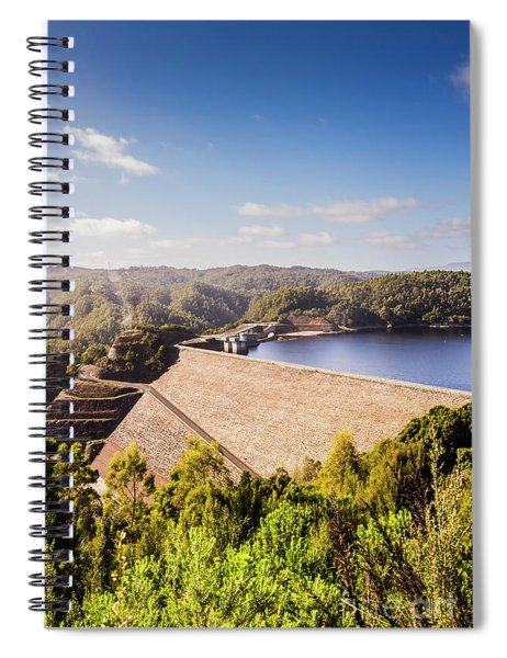 Picturesque Hydroelectric Dam Spiral Notebook