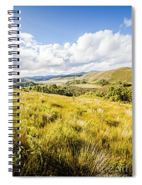 Picturesque Tasmanian Field Landscape Spiral Notebook