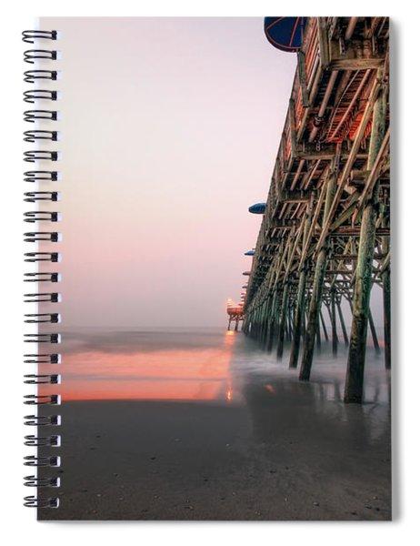 Pier And Surf Spiral Notebook