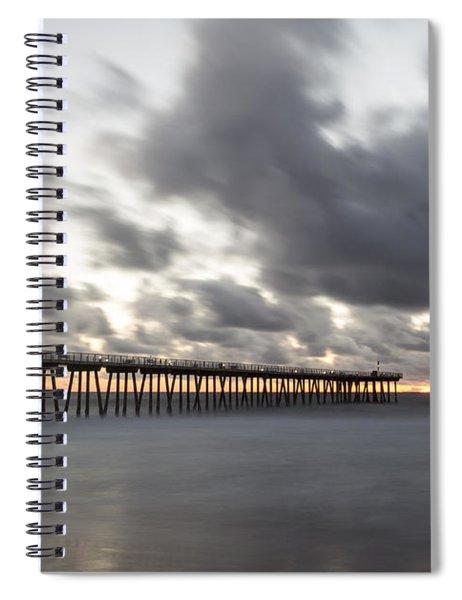 Pier In Misty Waters Spiral Notebook