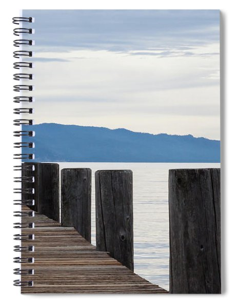 Pier On The Lake Spiral Notebook