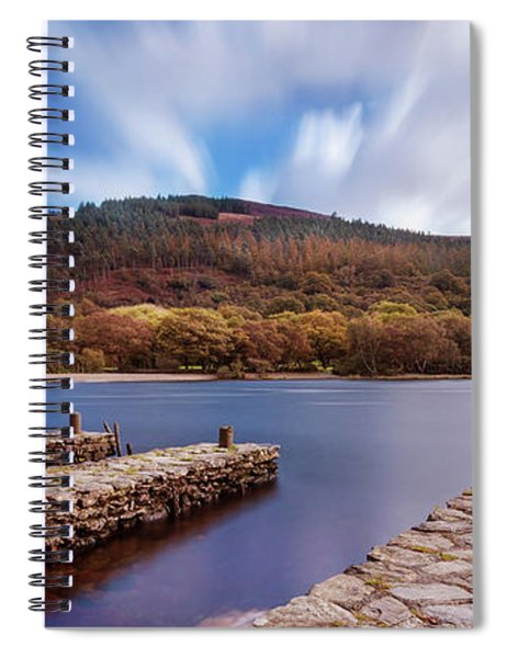 Spiral Notebook featuring the photograph Pier On The Upper Lake In Glendalough - Wicklow, Ireland by Barry O Carroll