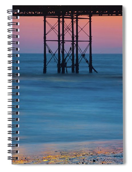 Pier Supports At Sunset I Spiral Notebook