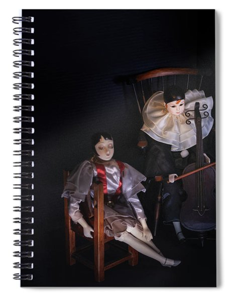 Pierrot And Columbine Spiral Notebook