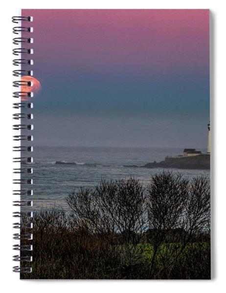 Pigeon Point Supermoon Spiral Notebook