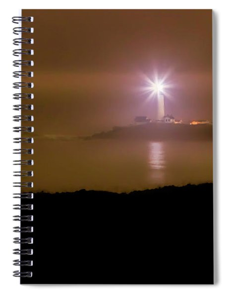 Pigeon Point Through The Fog Spiral Notebook