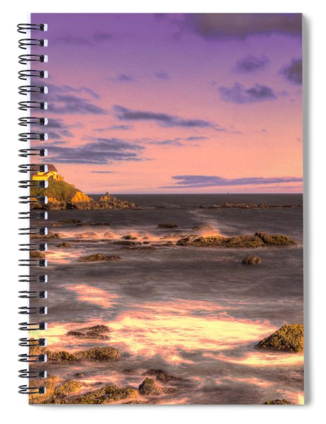 Pigeon Point Lighthouse At Sunset Spiral Notebook