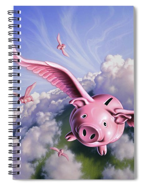 Pigs Away Spiral Notebook