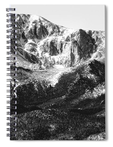 Pikes Peak Black And White In Wintertime Spiral Notebook