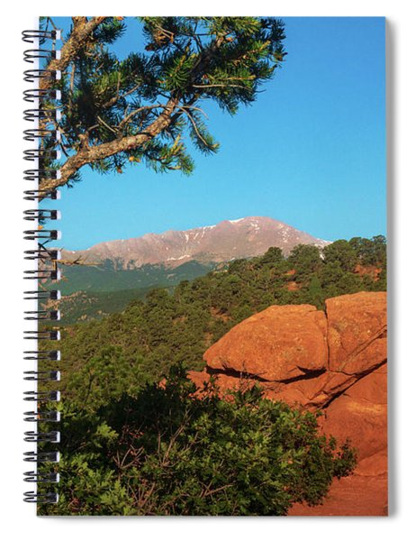 Spiral Notebook featuring the photograph Pikes Peak by John De Bord