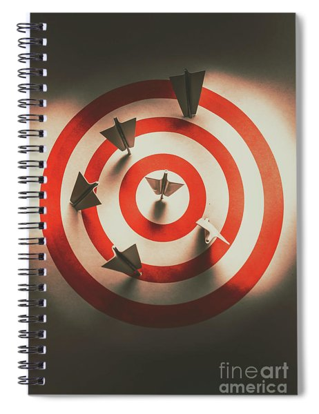 Pin Point Your Target Audience Spiral Notebook