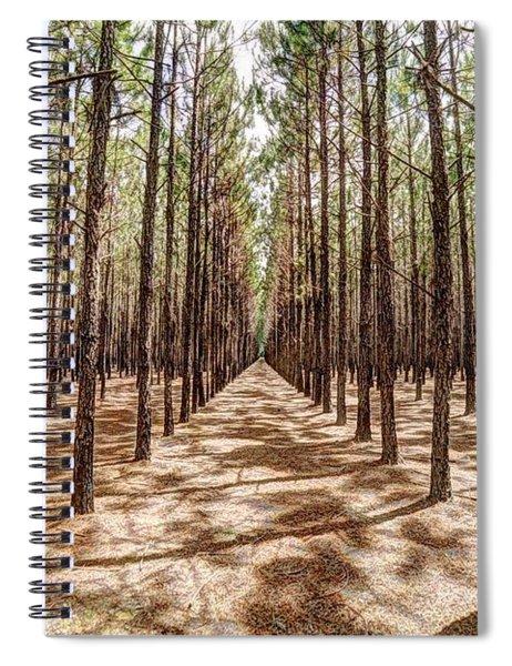 Pine Plantation Wide Color Spiral Notebook