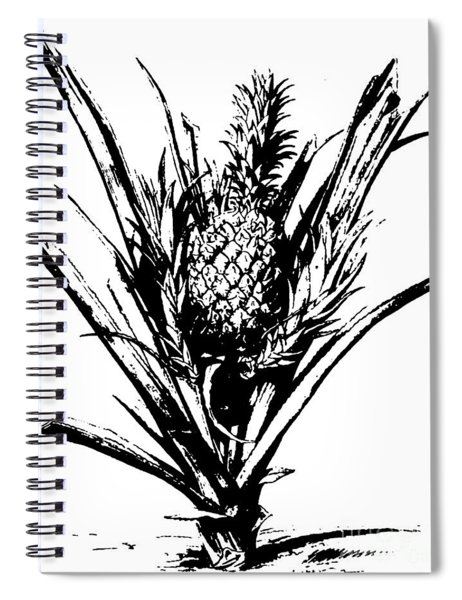 Pineapple Plant With Fruit Spiral Notebook