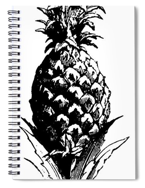Pineapple Print Spiral Notebook