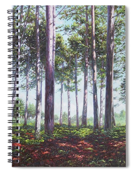 Pines In New Forest Shade Spiral Notebook