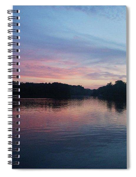 Pink And Blue Skies At Deer Creek Spiral Notebook
