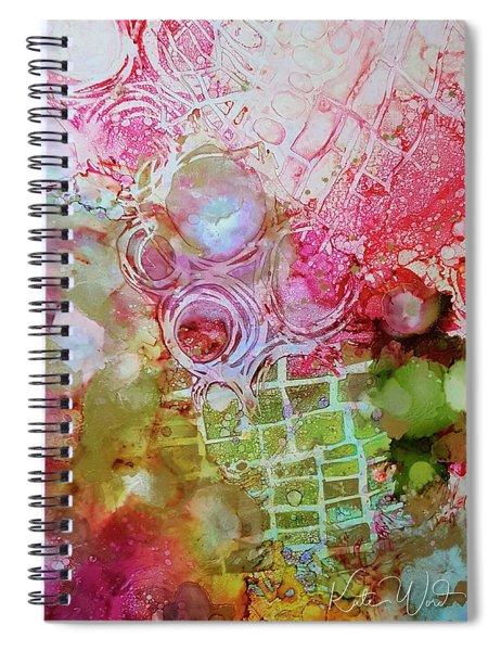 Pink And Green Patterns Spiral Notebook