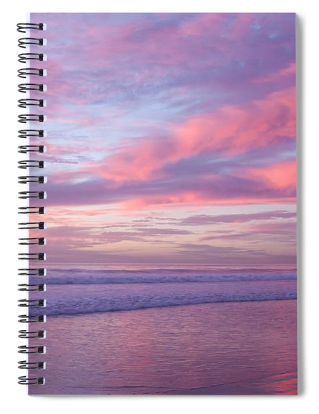 Pink And Lavender Sunset Spiral Notebook