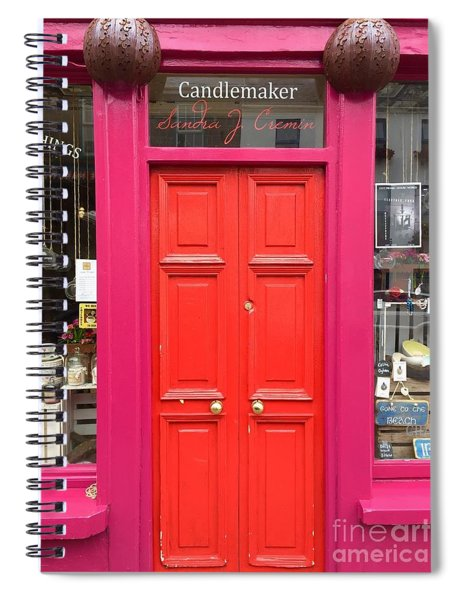 Pink And Orange Door Ireland Spiral Notebook
