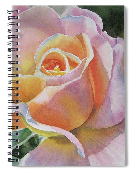 Pink And Peach Rose Bud Spiral Notebook