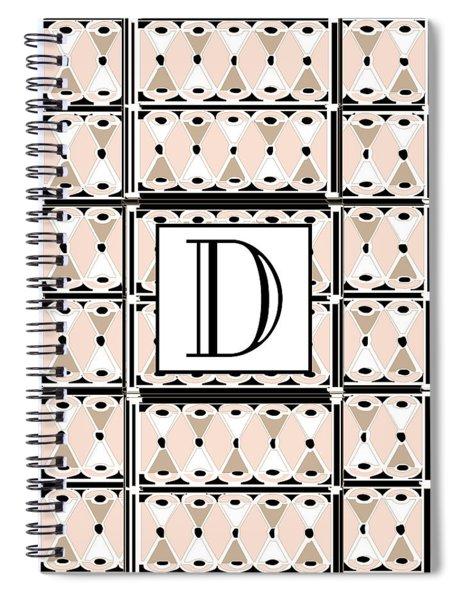 Pink Champagne Deco Monogram  D Spiral Notebook