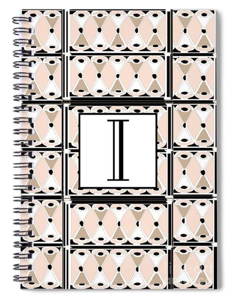 Pink Champagne Deco Monogram  I Spiral Notebook
