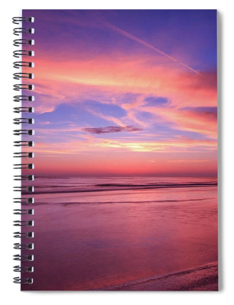 Spiral Notebook featuring the photograph Pink Sky And Ocean by Doug Camara