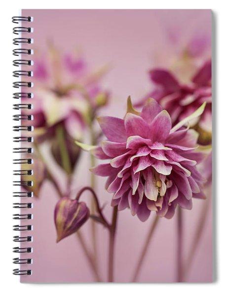 Pink Columbines Spiral Notebook