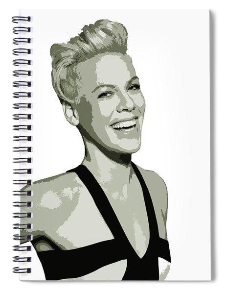 Pink Cutout Art Spiral Notebook