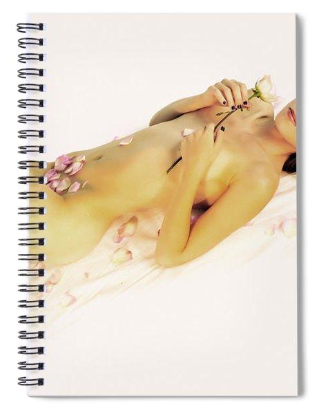 Pink Flower Petals Spiral Notebook