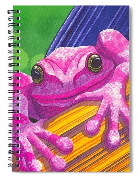 Pink Frog Spiral Notebook
